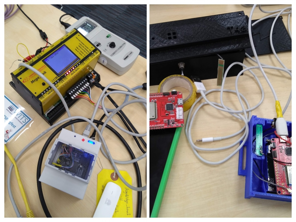 A couple of the WITS-IoT prototypes on show during the Plugfest