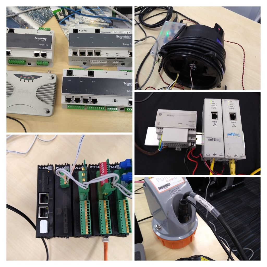Various WITS-DNP3 Field Devices from the Plugfest